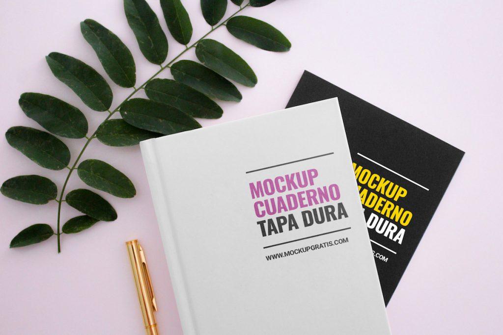 Mockup gratis de dos libros en formato PSD