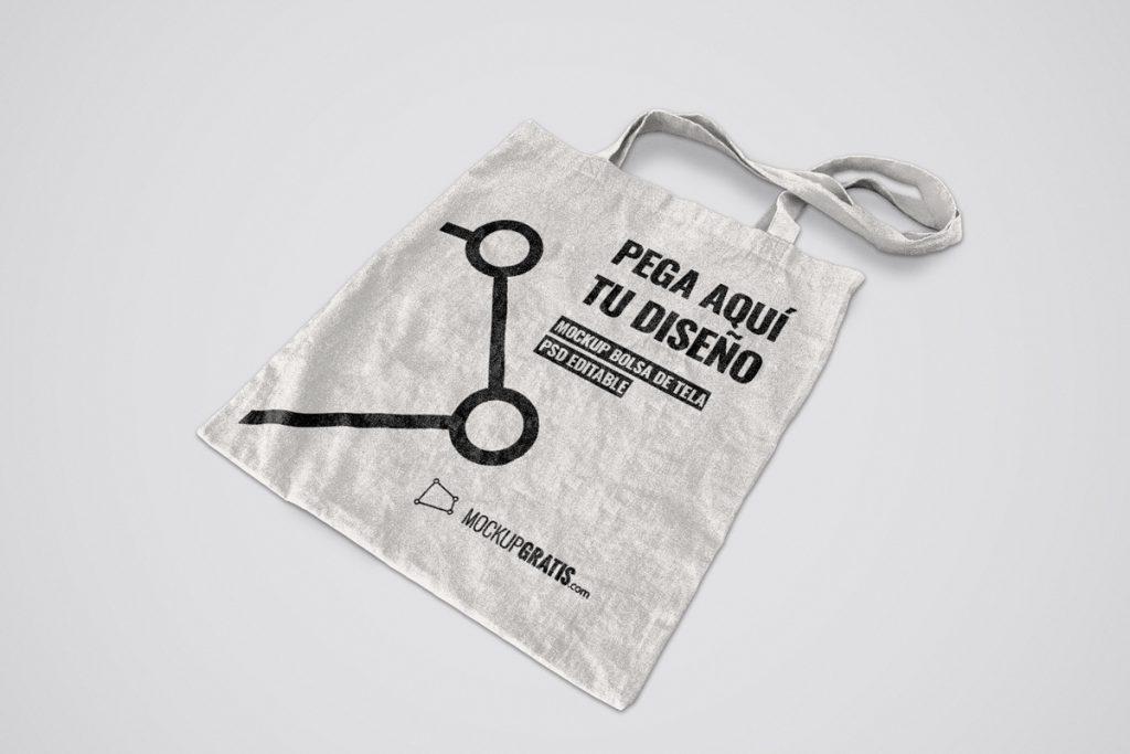 Mockup de una bolsa de tela