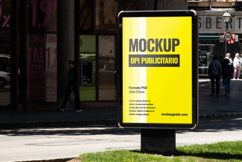 Mockup de un Opi para publicidad, en formato PSD