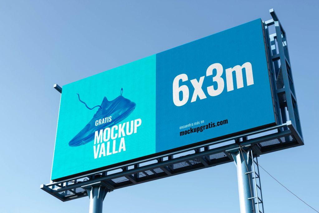 Mockup de una valla de publicidad en formato PSD