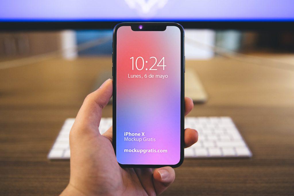 Mockup en PSD de un iPhone X