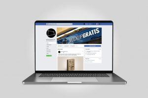 Mockup de interfaz de Facebook 2019 en español, en formato PSD