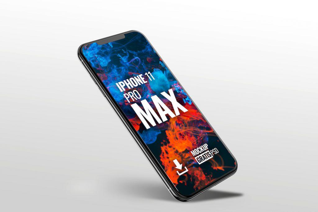Mockup en PSD de un iPhone Pro Max