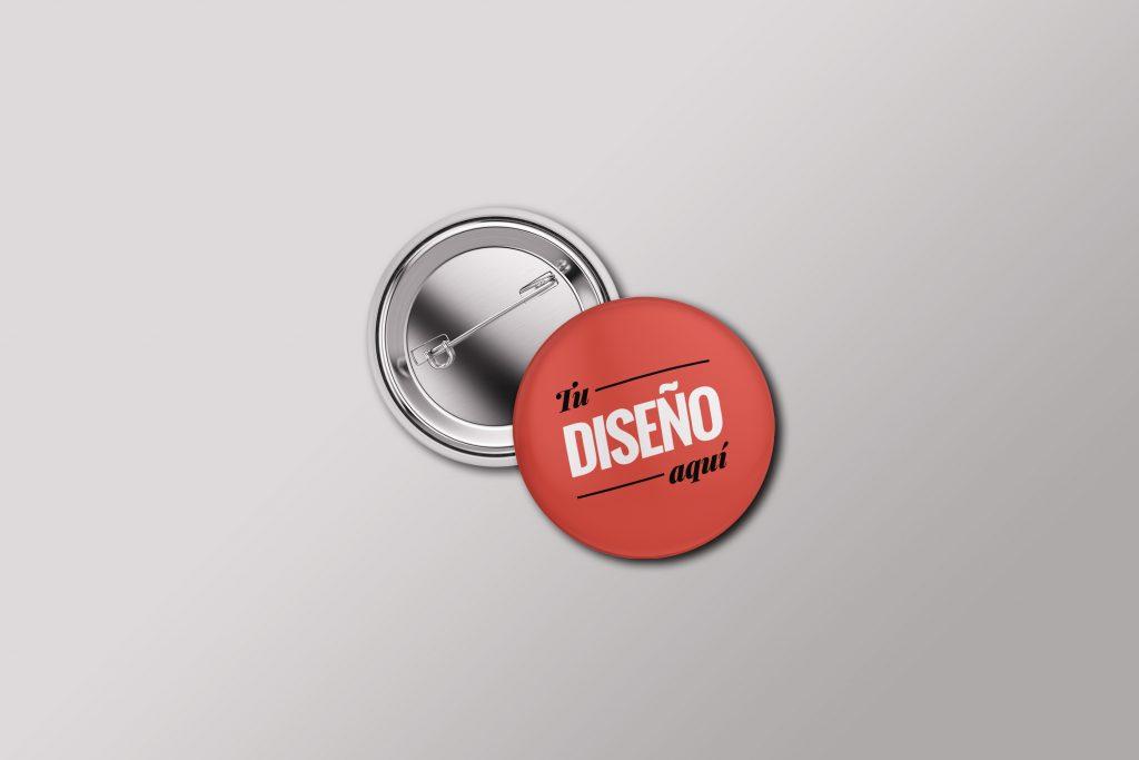Mockup gratis de una chapa con forma circular en formato PSD