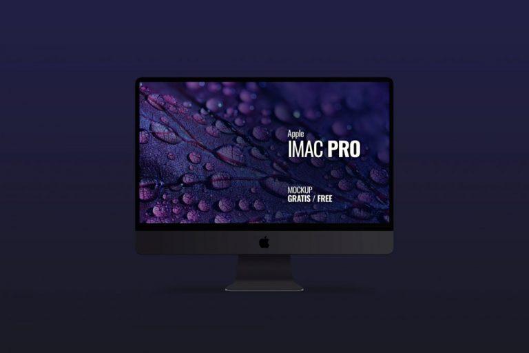 Mockup en PSD de un Imac Pro color Space Gray
