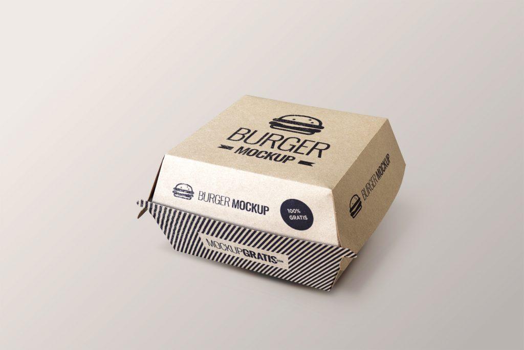 Mockup de packaging de hamburguesa creado por mockupgratis.com en Photoshop